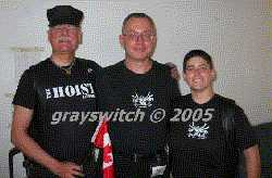 Ken flanked by his favourite bootblacks: black (Toronto Bootblack 2003) and Boi Joe (Toronto Bootblack 2004)